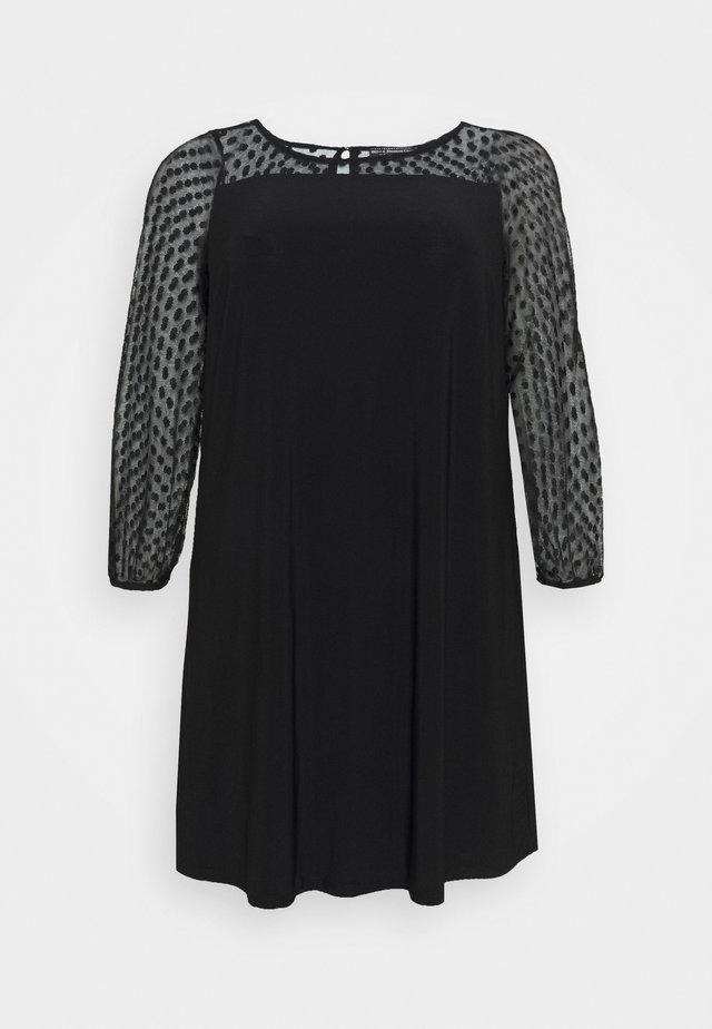 SPOT YOKE DRESS - Day dress - black