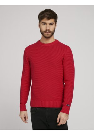 Cardigan - powerful red