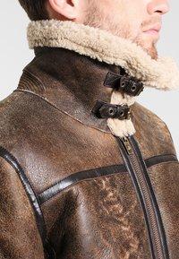 Goosecraft - LAMMY - Leather jacket - brown - 3