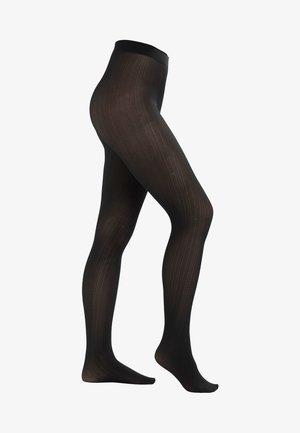 FALKE RIB 50 DENIER STRUMPFHOSE HALB-BLICKDICHT MATT - Tights - black