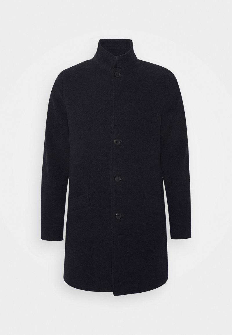 Brixtol Textiles - UNION - Klasický kabát - navy
