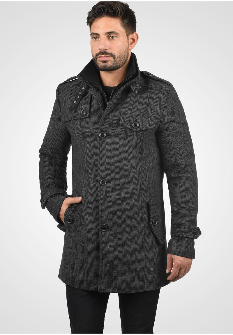 INDICODE JEANS - BRANDAN - Short coat - dark coal