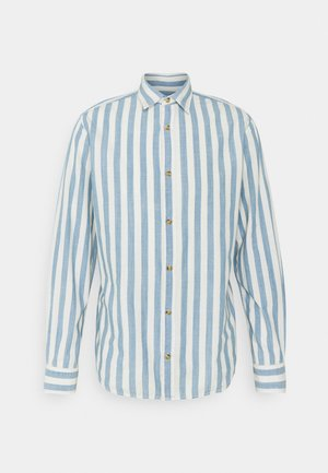 JJTEXAS PLAIN - Vapaa-ajan kauluspaita - light blue denim/stripe