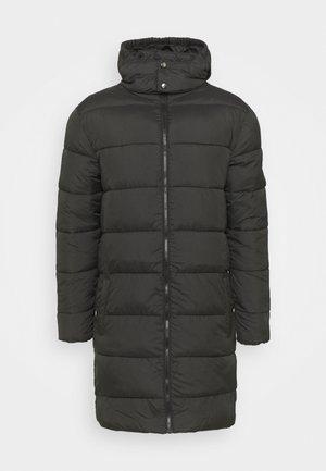 LONGLINE PUFFER JACKET UNISEX - Winter coat - black