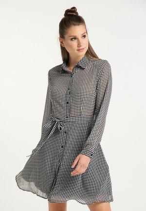 Shirt dress - wollweiss schwarz