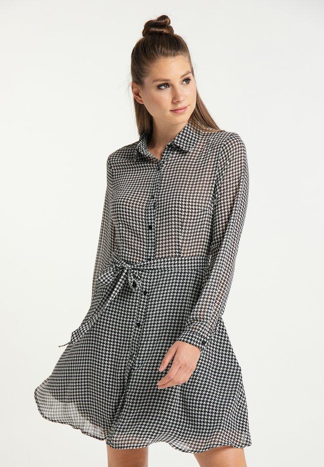 Vestido camisero - wollweiss schwarz