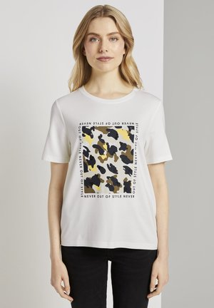 Print T-shirt - whisper white