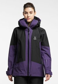Haglöfs - LUMI JACKET - Ski jacket - purple rain/true black - 0