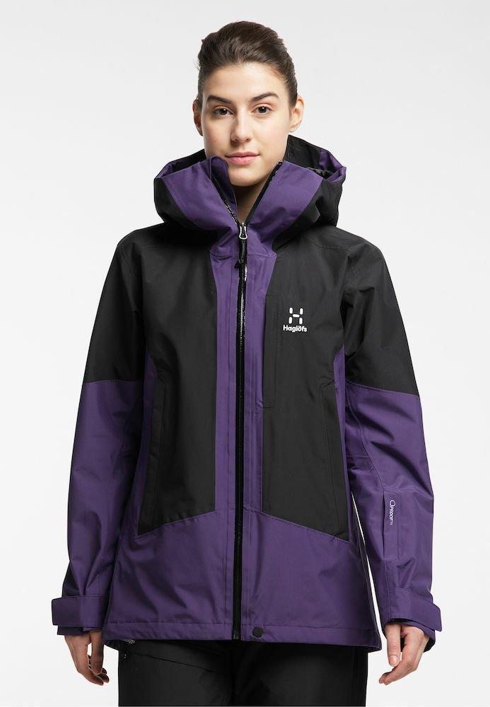 Haglöfs - LUMI JACKET - Ski jacket - purple rain/true black