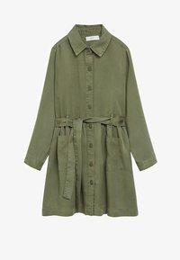 Mango - IVA - Robe chemise - kaki - 0