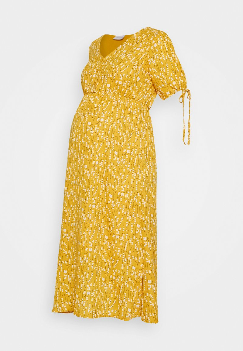 MAMALICIOUS - MLCARLIN MIDI DRESS - Korte jurk - chinese yellow/fragant lilac