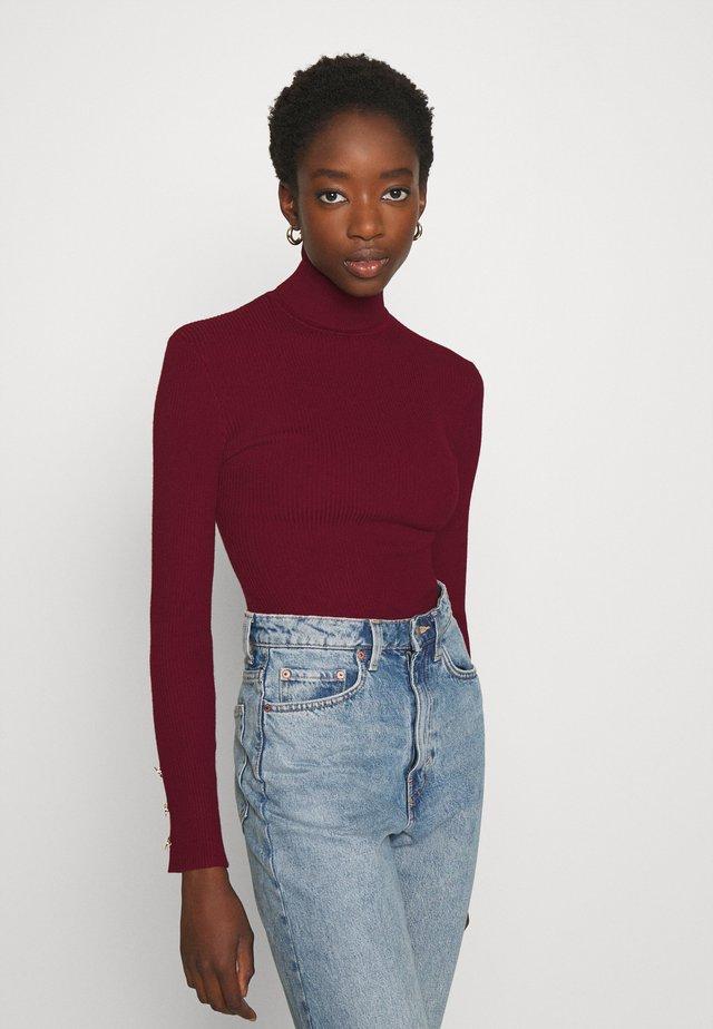 ROLL NECK  - Pullover - burgundy