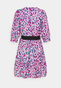 Closet - WRAP GATHERED SKIRT DRESS - Day dress - purple - 1