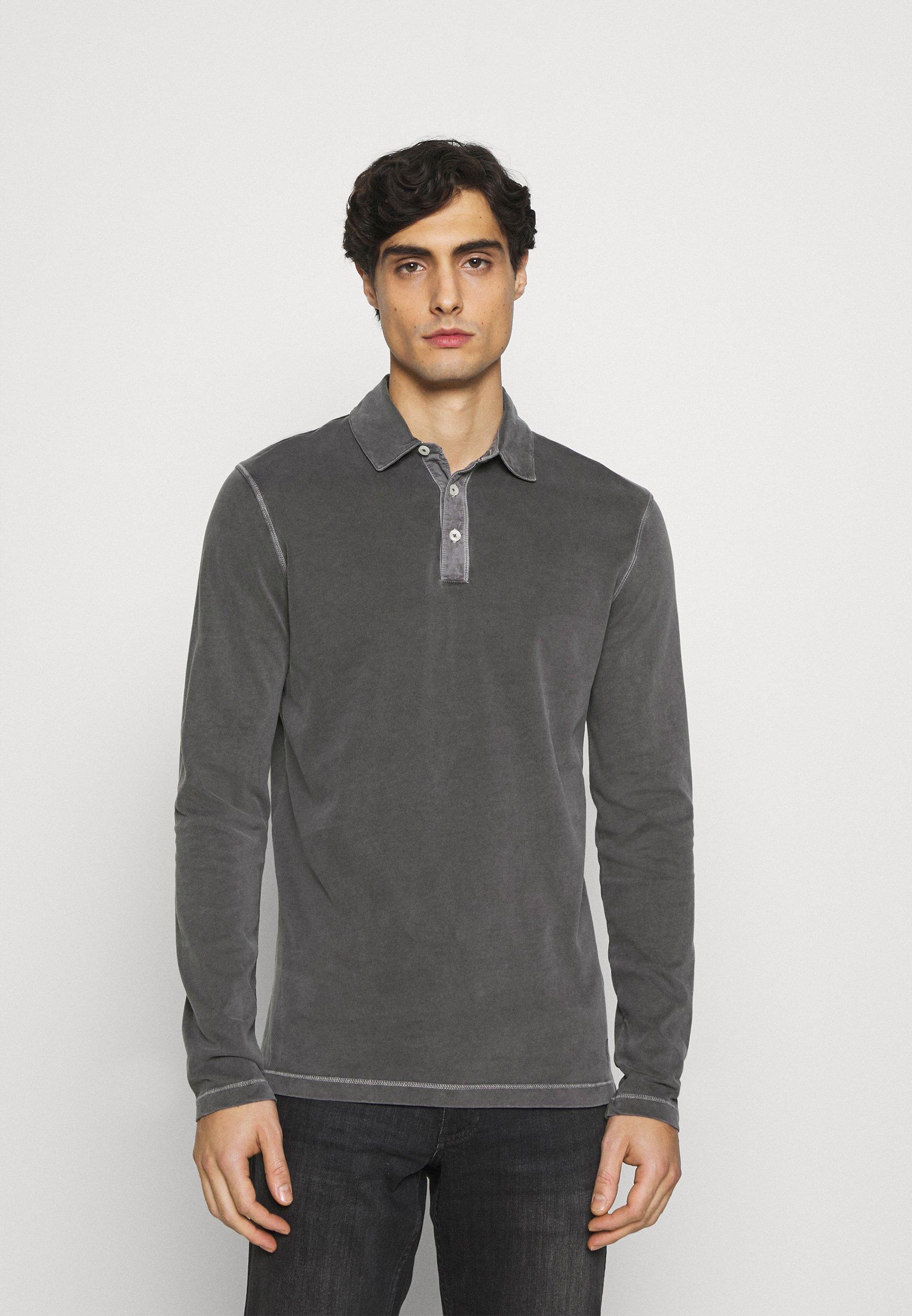 Men LONG SLEEVE FLATLOCK DETAILS - Polo shirt