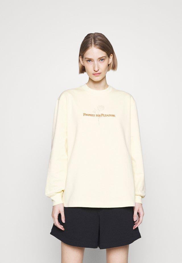 LURING PRINT - T-shirt à manches longues - light yellow