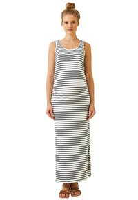 Vertbaudet - Maxi dress - weiß/blau gestreift - 0