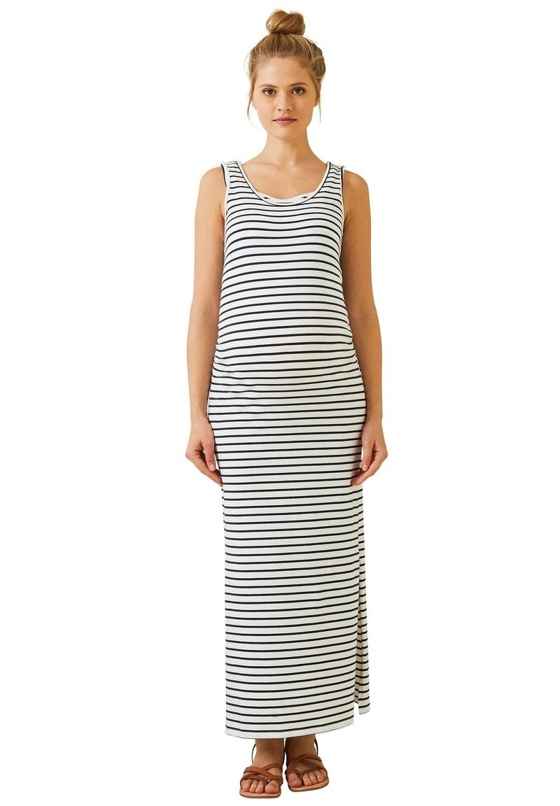 Vertbaudet - Maxi dress - weiß/blau gestreift