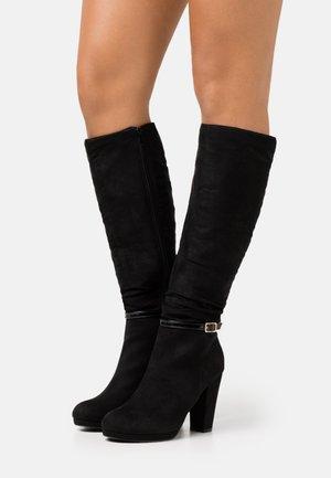 DEENA PLATFORM - Boots med høye hæler - black