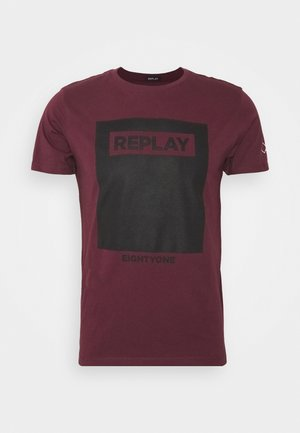 T-shirt con stampa - red wine