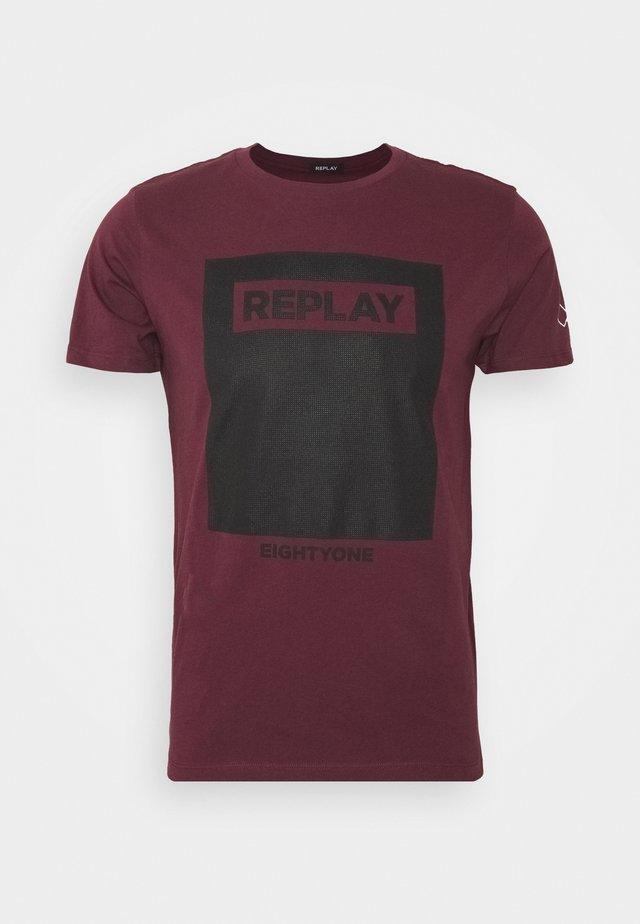 Camiseta estampada - red wine