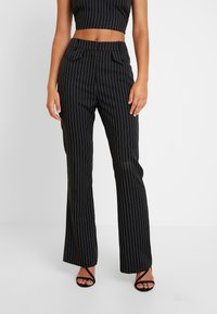 4th & Reckless - MARIANNA TROUSER - Kangashousut - black - 0