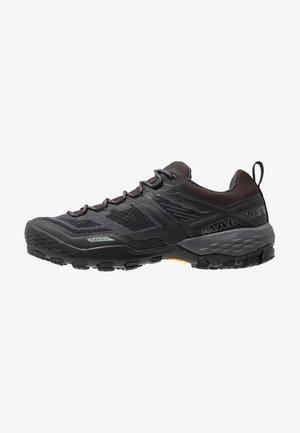 DUCAN - Hiking shoes - black/dark titanium