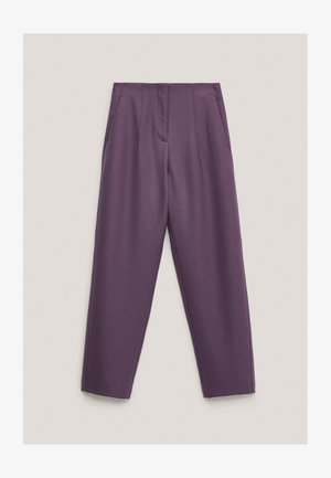 AUS REINER WOLLE  - Chinos - dark purple