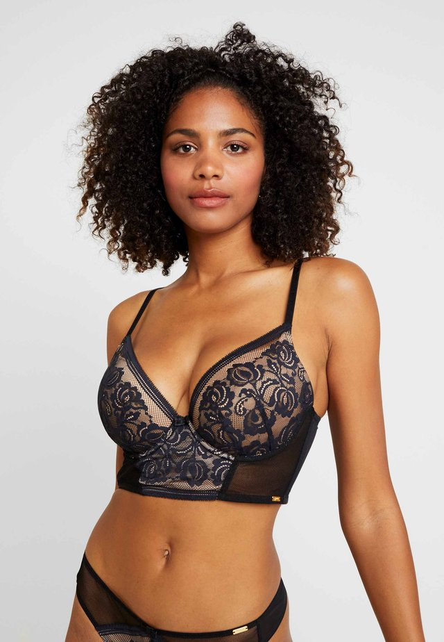ENCORE PADDED LONGLINE - Push-up bra - black/nude