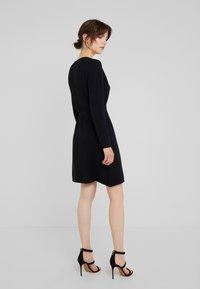 Davida Cashmere - WRAP OVER DRESS - Jumper dress - black - 2