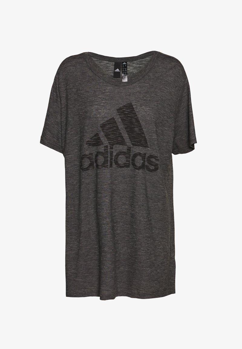 adidas Performance - WIN TEE - T-shirts med print - black