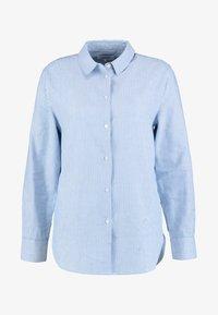 Zalando Essentials - Button-down blouse - white/light blue - 4