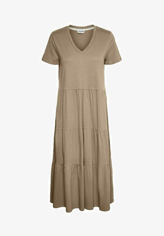 Sukienka z dżerseju - beige