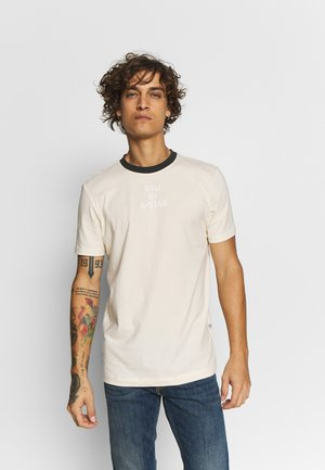 TEXT SLIM - Print T-shirt - ecru
