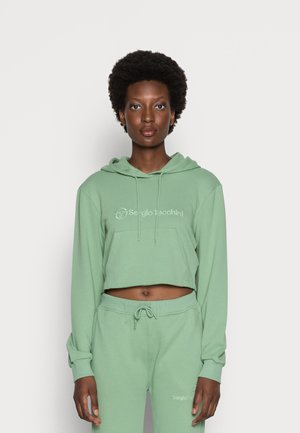 ALINA CROPPED HOODIE - Sweatshirt - basil