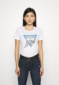 Guess - ICON TEE - Print T-shirt - true white - 0