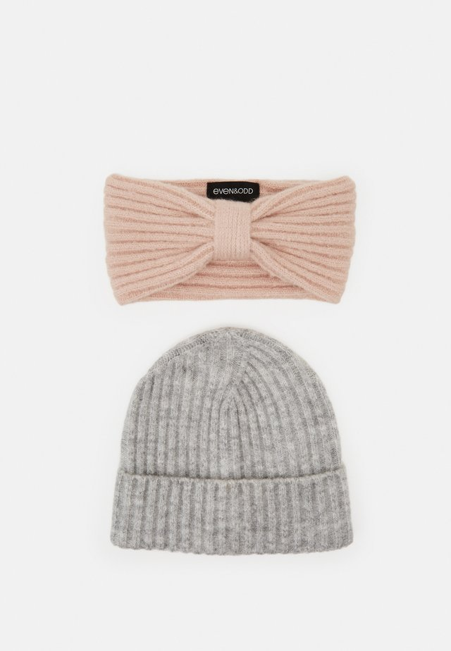 SET - Ear warmers - grey/rose