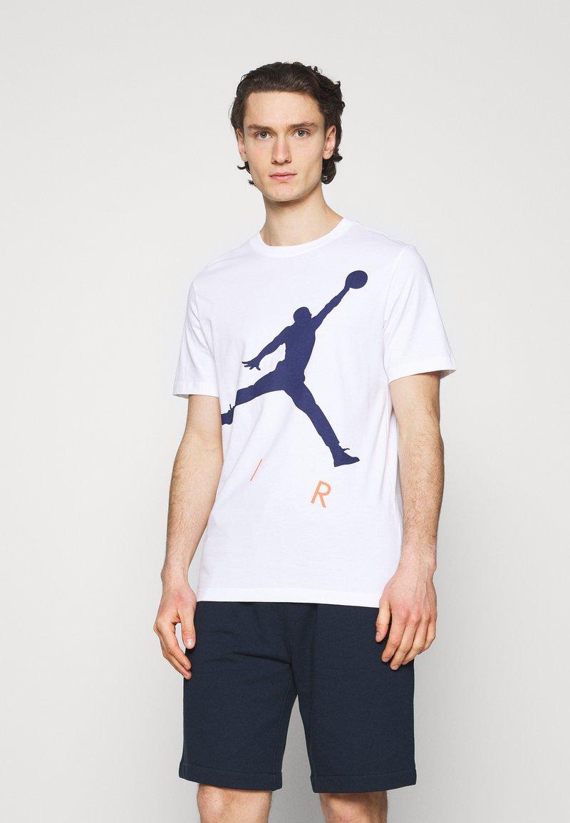 Jordan - JUMPMAN AIR CREW - Printtipaita - white/blue void