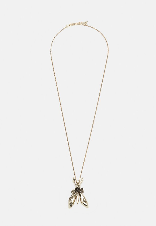 ROCK FLY NECKLACE - Ketting - antique gold-coloured