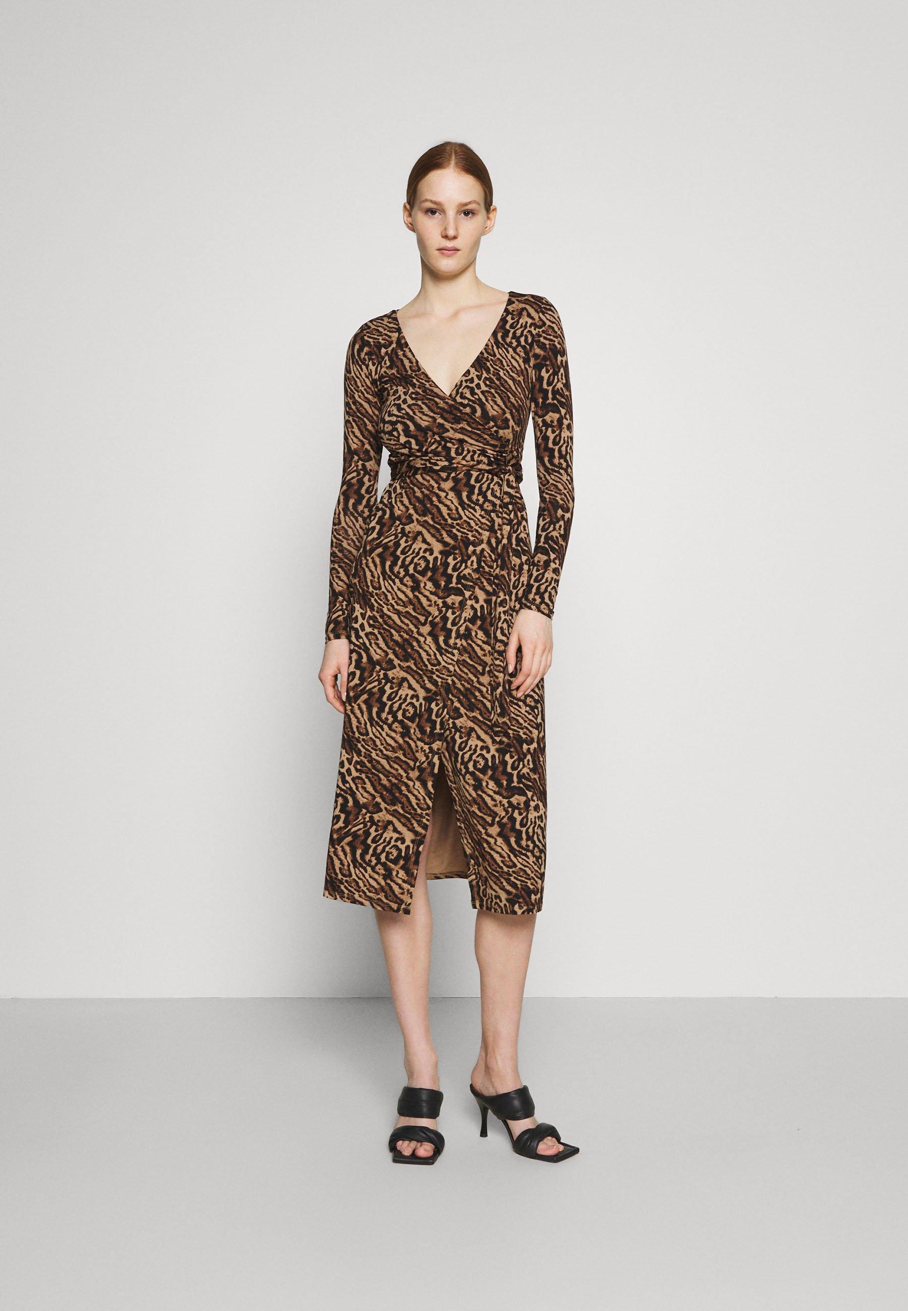 Women HOLIDAY WRAP DRESS - Jersey dress