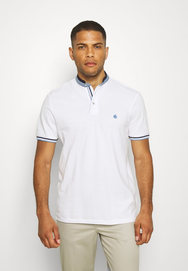 MAO DOUBLE TIPPING - Polo shirt - white