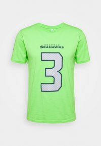 Fanatics - NFL RUSSELL WILSON SEATTLE SEAHAWKS ICONIC NAME & NUMBER GRAPHIC - Club wear - lime green - 0