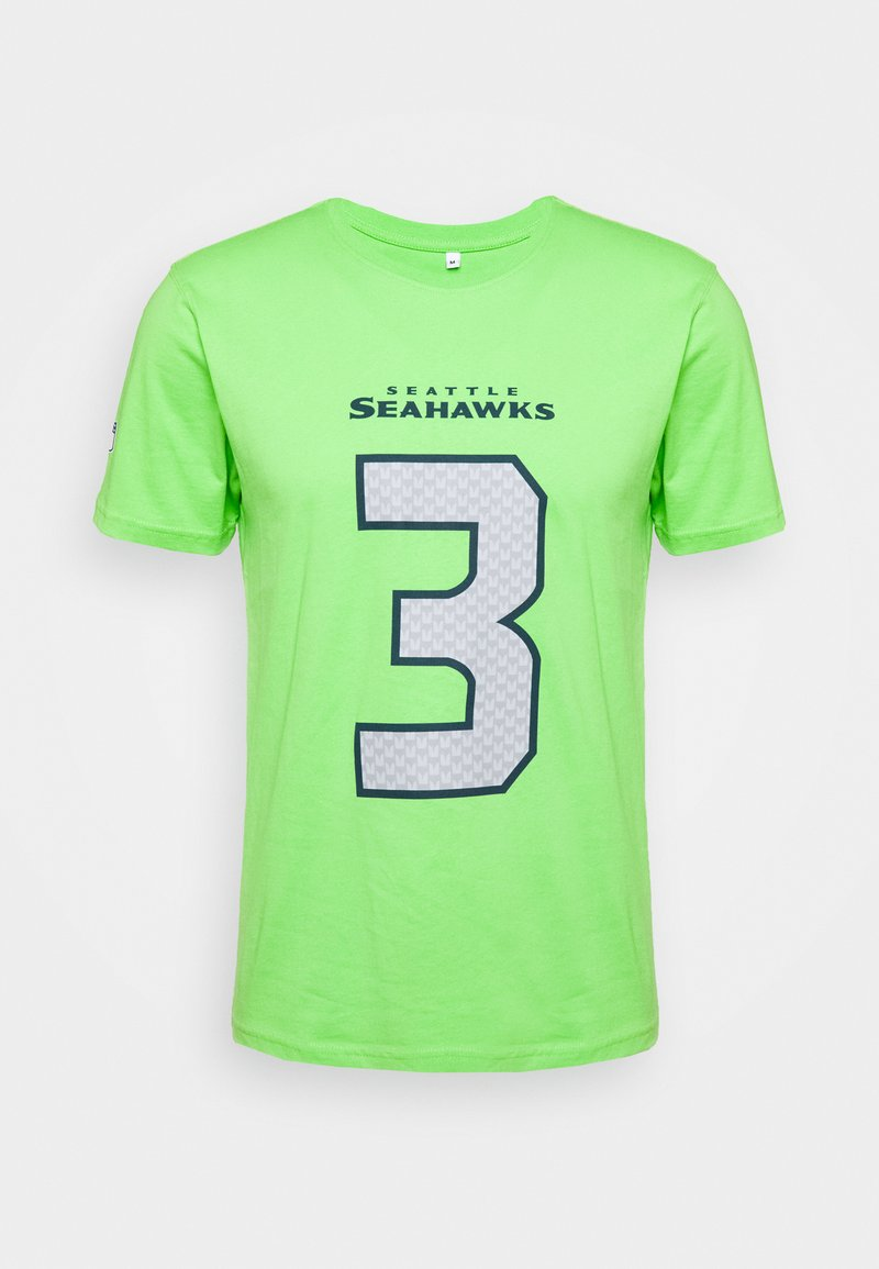 Fanatics - NFL RUSSELL WILSON SEATTLE SEAHAWKS ICONIC NAME & NUMBER GRAPHIC - Club wear - lime green