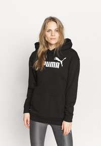 Puma - ELONGATED LOGO HOODIE - Sweatshirt - black - 0