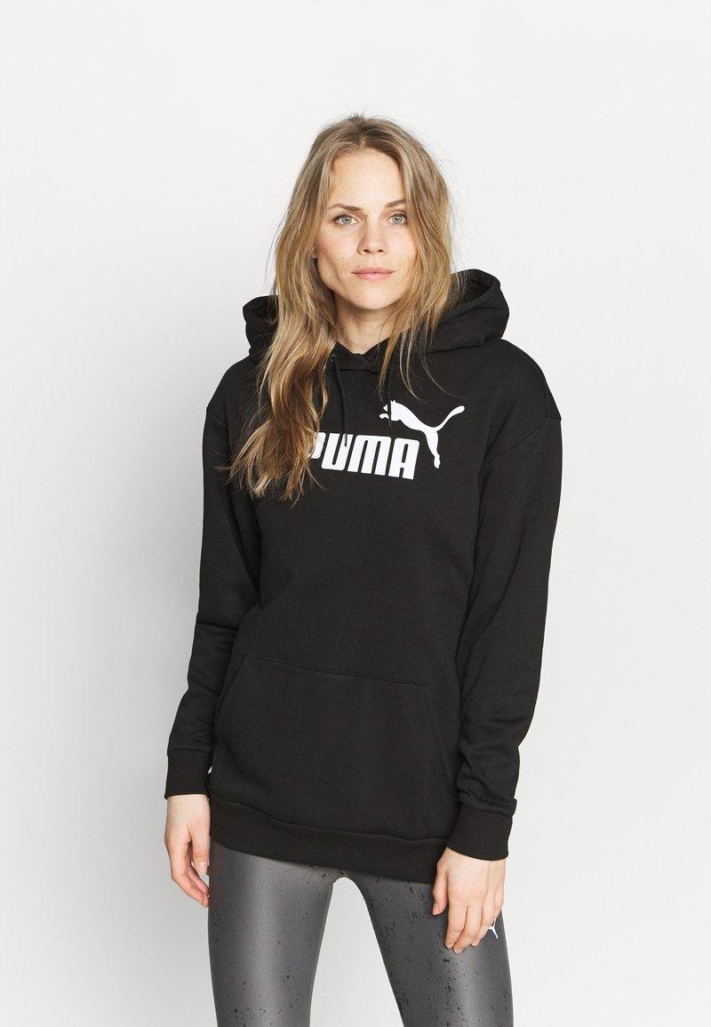 Puma - ELONGATED LOGO HOODIE - Sweatshirt - black
