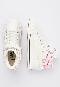 British Knights - ROCO - High-top trainers - white/flamingo - 1