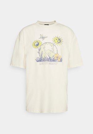 LET IT GROW TEE UNISEX - Print T-shirt - ecru