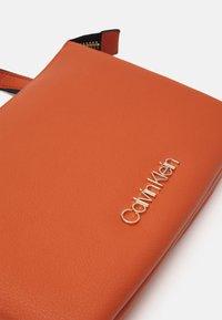 Calvin Klein - CROSSBODY DOUBLE - Across body bag - brown - 3