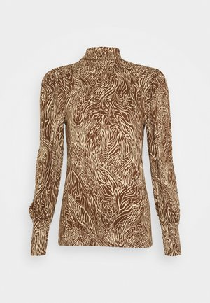 ONLAMINA - Long sleeved top - beige/brown animal