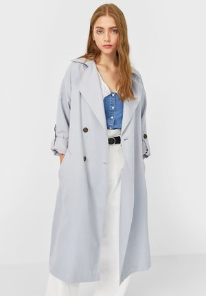 LANGER FLIESSENDER - Trench - grey