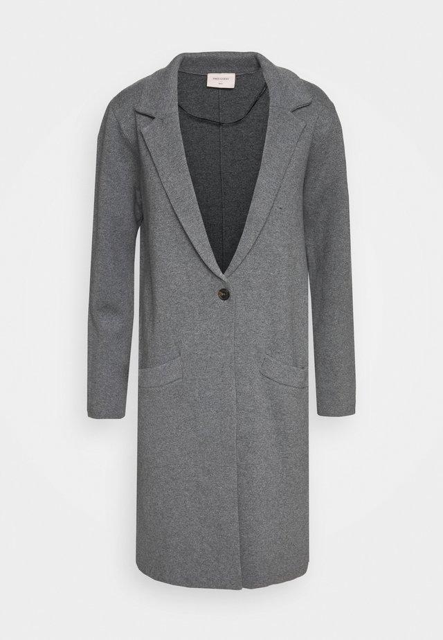 Zimní kabát - grey melange